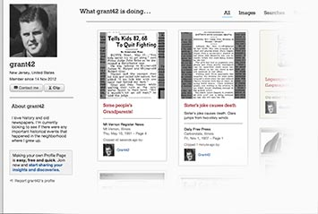 Profile page on Montgomery Advertiser Archive